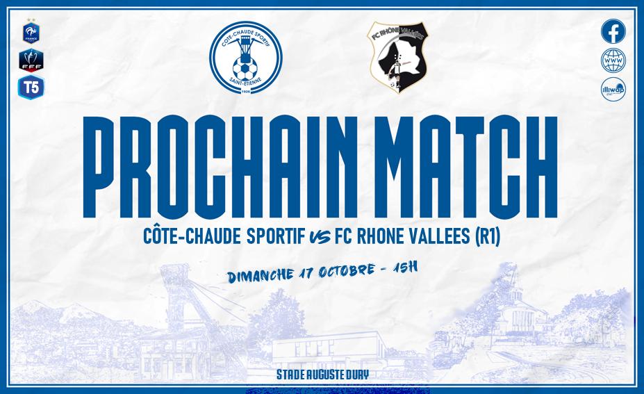 Prochain match SENIORS 1