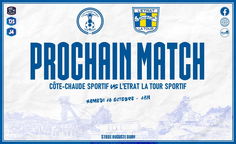Prochain match SENIORS 2